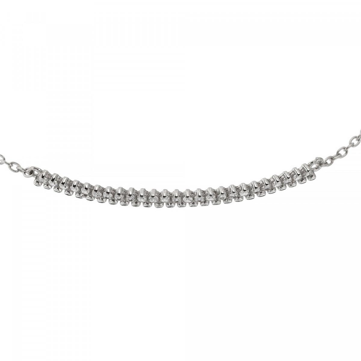"""Bracelet chaine or blanc et oxydes de zirconium """"Barette or blanc"""""""