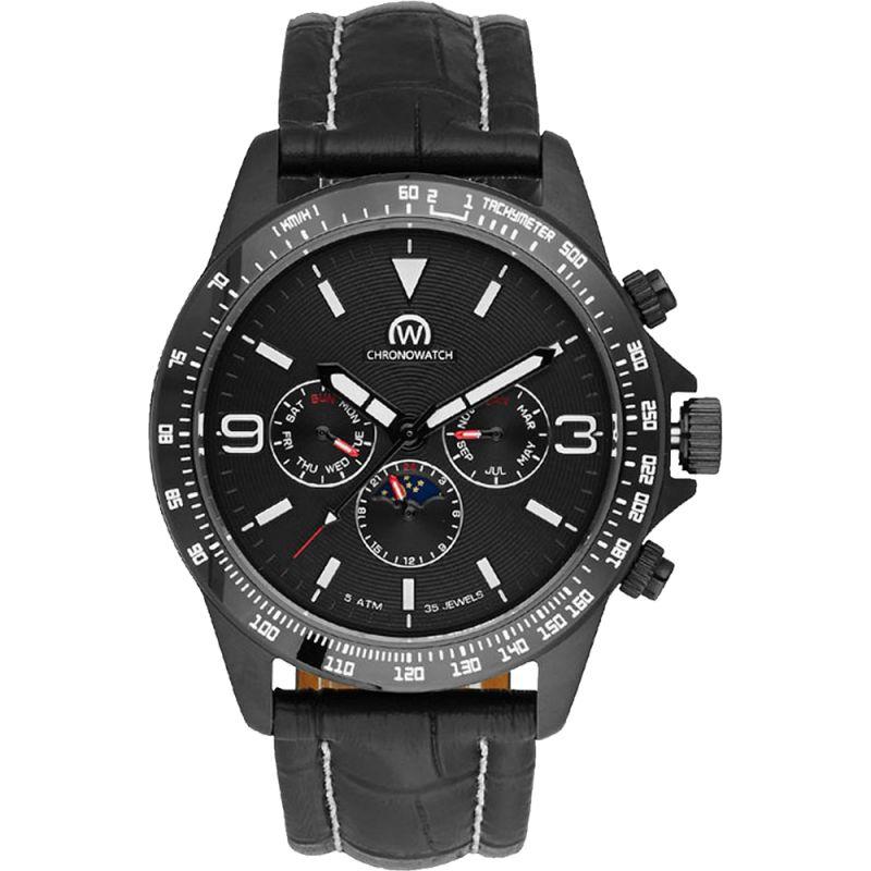 """Montre Chronowatch """"MICROMATIC"""" bracelet cuir - HB5161C1BC1"""