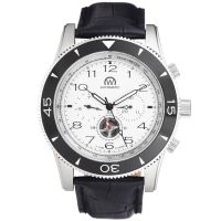 "Montre Chronowatch ""NAVYMATIC"" bracelet cuir - HB5170nC2BC1"