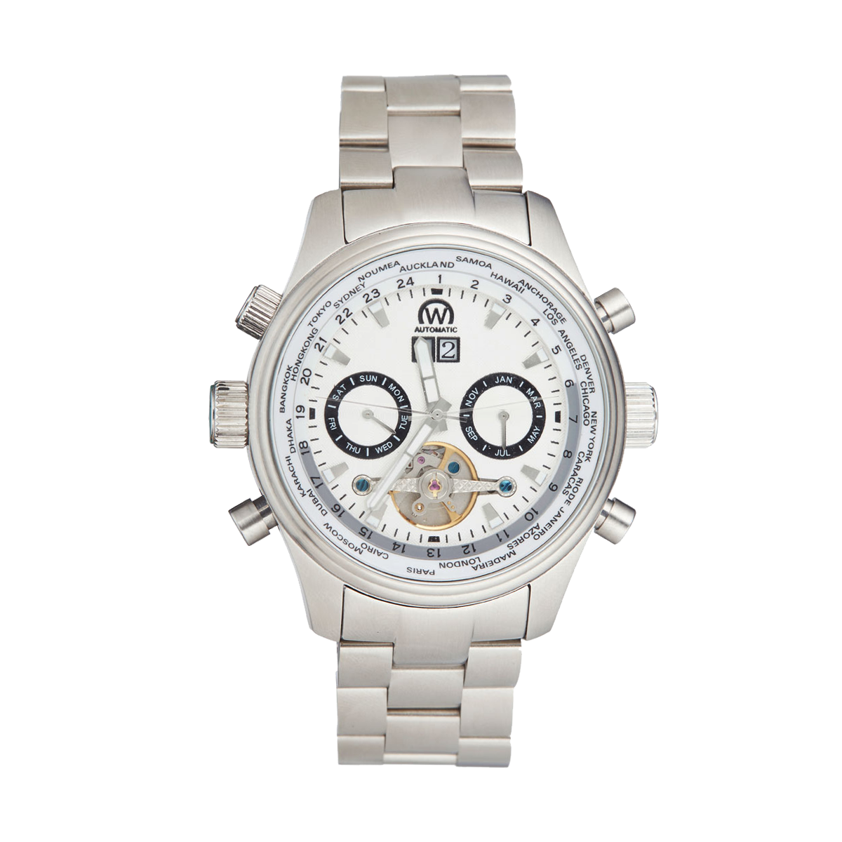 """Montre Chronowatch """"HECKLER"""" Automatique Bracelet métal - HF5250C3BM1"""