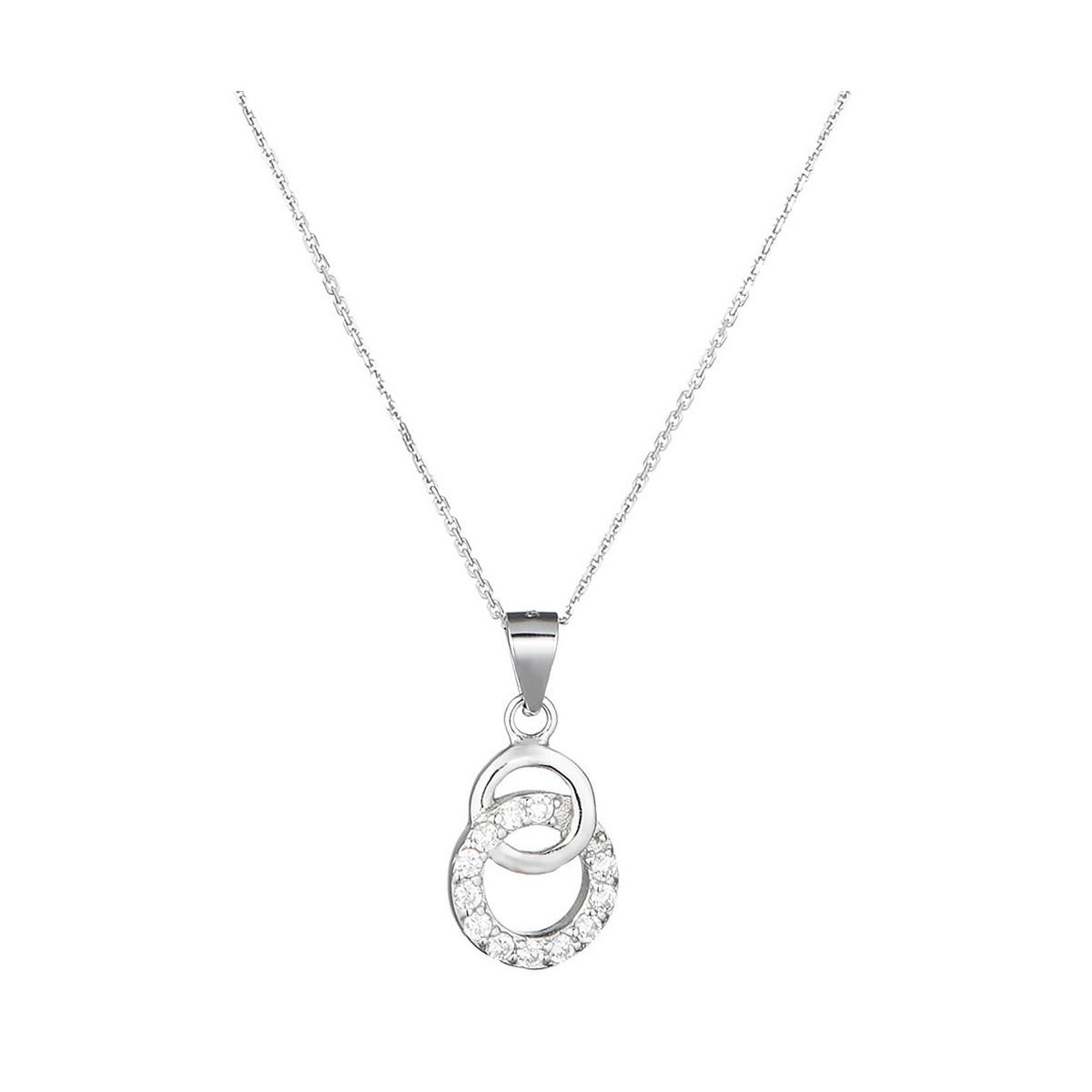 """Pendentif en argent, oxydes de zirconium et perles de culture blanche """"Cercles merveilleux"""""""