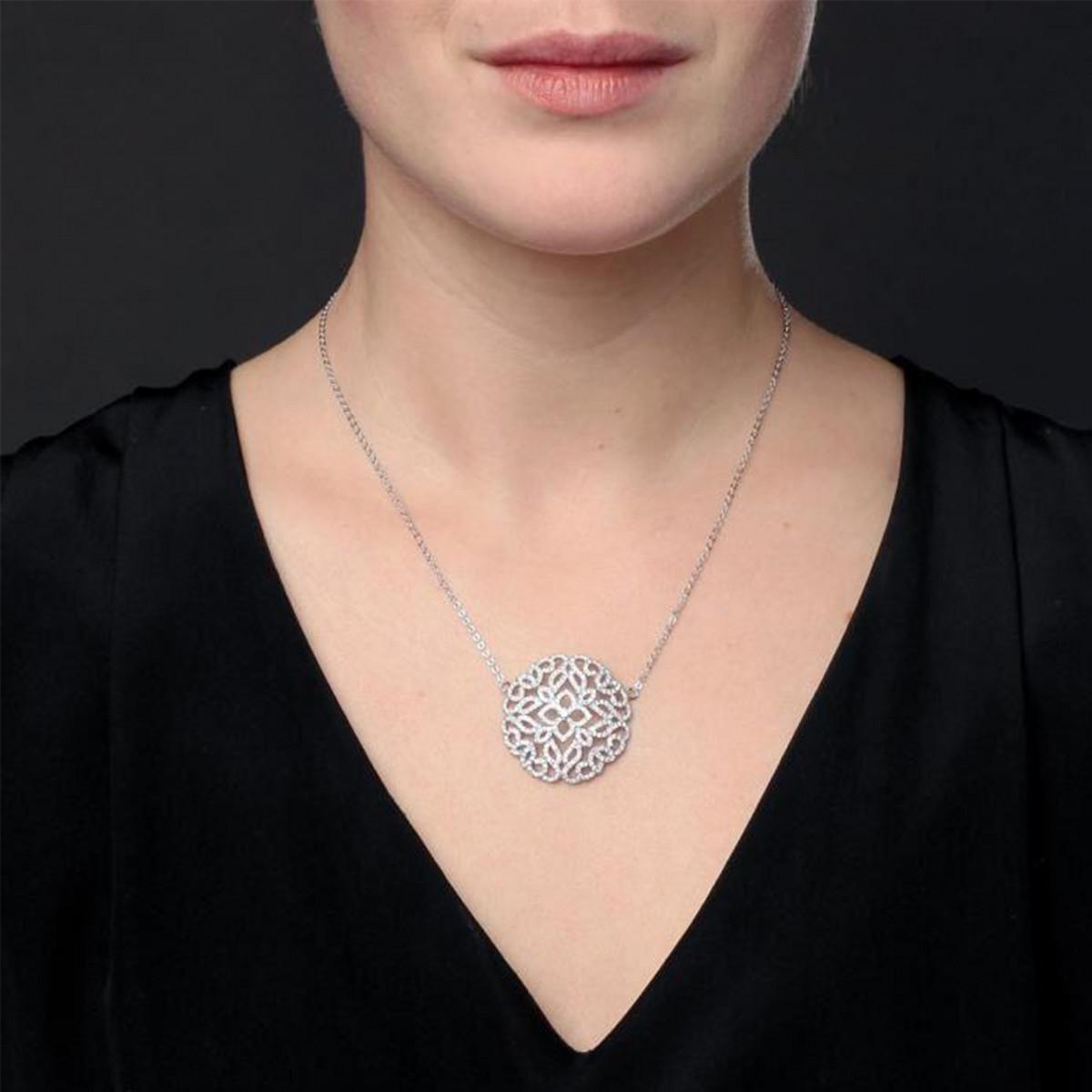 """Collier en argent et oxydes de zirconium """"Arabesque Naïma"""""""