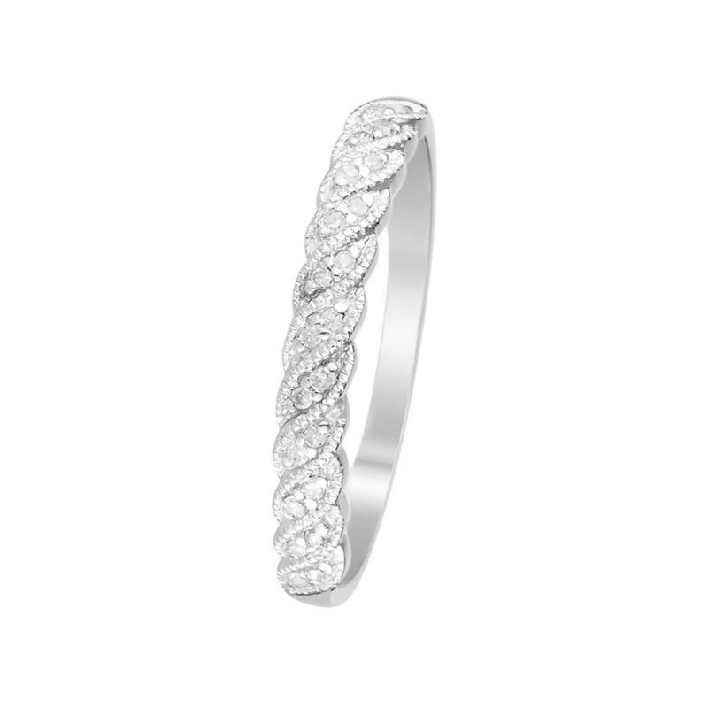 4f222b26ed4ce Bague Or Blanc et Diamants 0.07 carats Java | Mes-Bijoux.fr