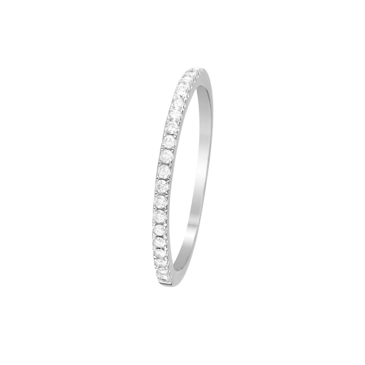 Bague Or Blanc Diamants 0 16 Carats Alliance Delice Mes Bijoux Fr