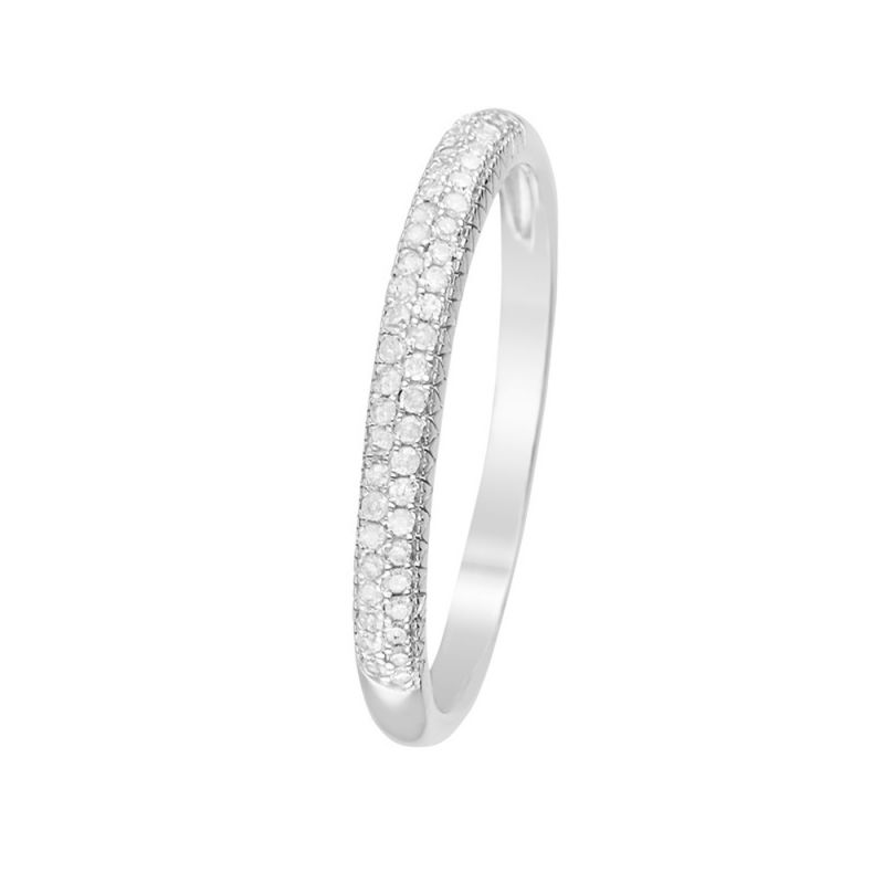 Bague Or Blanc Et Diamants 0 15 Carats Alliance Foch
