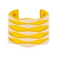 Manchette Hammamet finition dorée simili cuir jaune