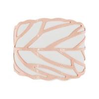 Manchette Capri finition rosée simili cuir blanc