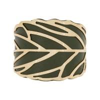 Manchette Funchal finition dorée simili cuir vert