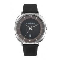 Montre Trendy Phantom - Cadran Noir - Bracelet Cuir véritable Noir - CC1042-02