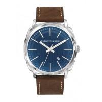 Montre Trendy Handley - Cadran Bleu avec verre bleuté - Bracelet Cuir Marron - CC1040-05D