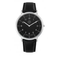 Montre Trendy Lansen - Cadran Noir - Bracelet Cuir Noir - CC1034-02