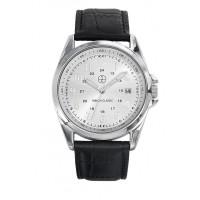 Montre Trendy Atlantic - Cadran Acier - Bracelet Cuir Noir - CC1026-03D