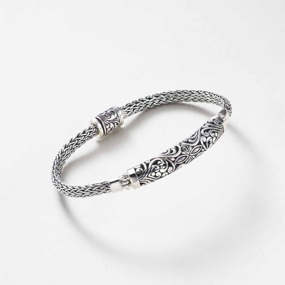 bracelet argent massif homme