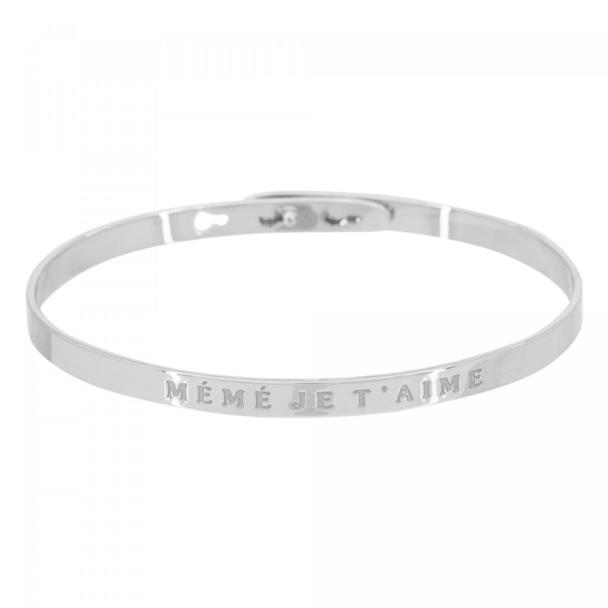 """Bracelet Jonc à message Laiton """"MÉMÉ JE T'AIME"""""""