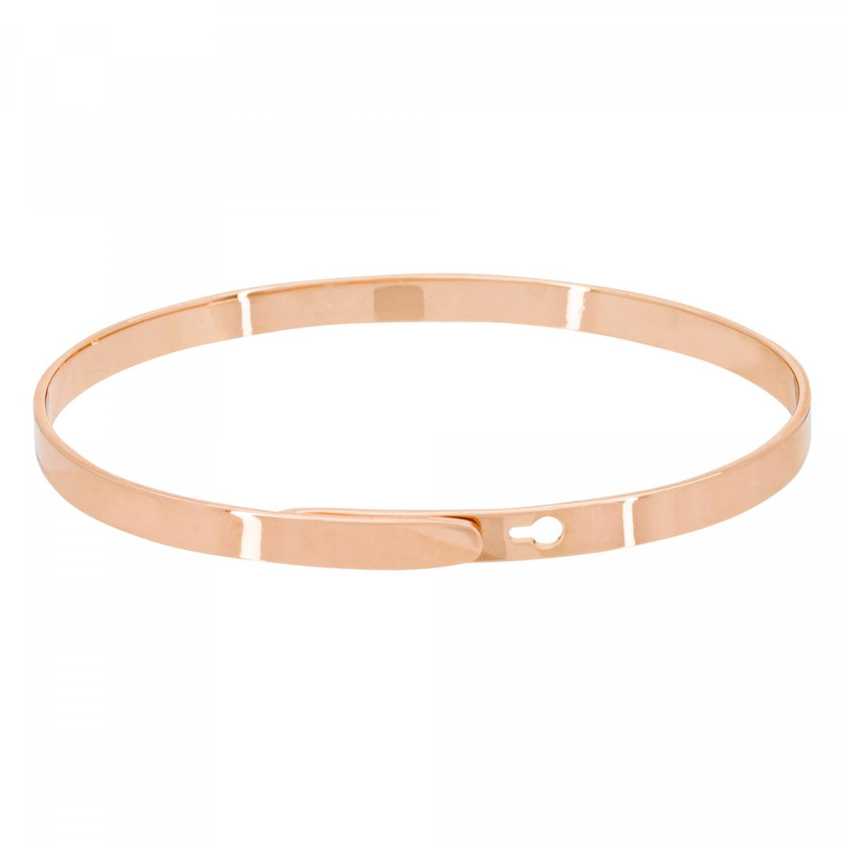 """""""YOU ARE THE ONE"""" bracelet jonc rosé à message"""