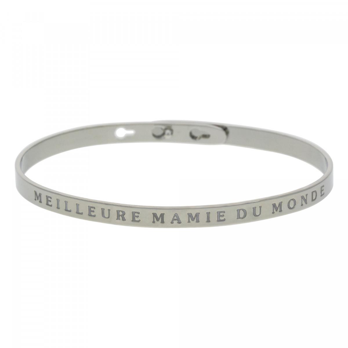 """Bracelet Jonc à message Laiton """"MEILLEURE MAMIE DU MONDE"""""""