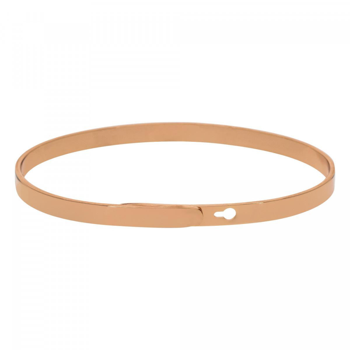"""""""MA SOEUR POUR LA VIE"""" Jonc rosé bracelet à message"""