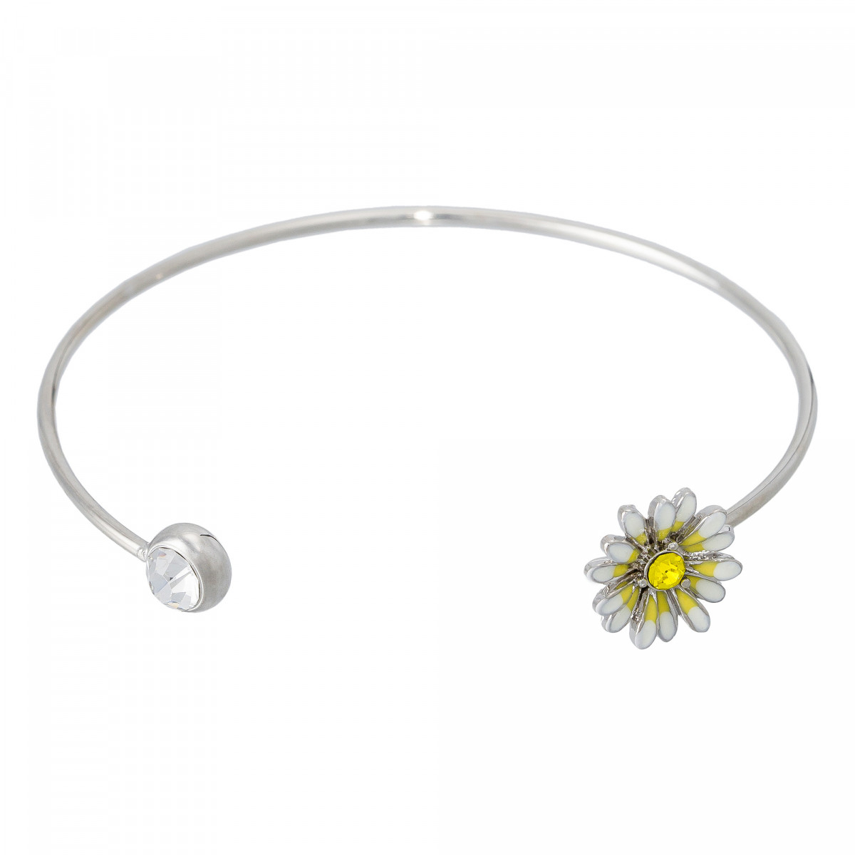 """Bracelet """"Marguerite de Printemps"""" Argenté"""