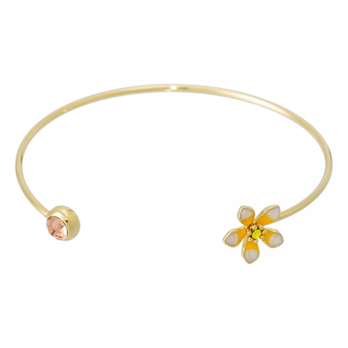 """Bracelet """"Violette d'Amour"""" Doré"""