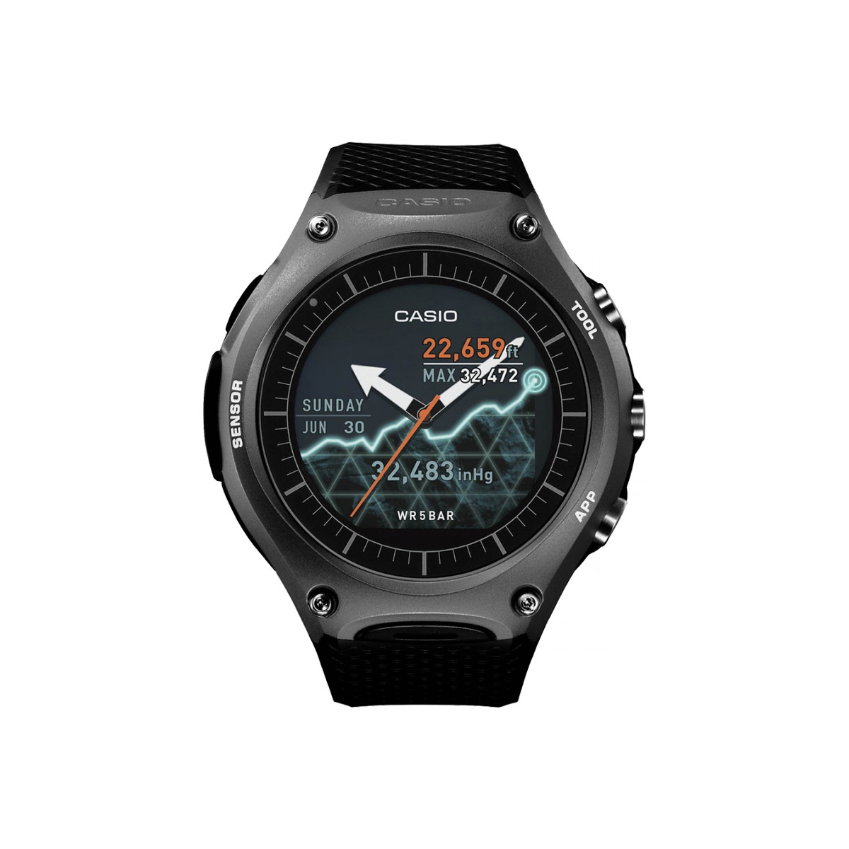 Montre CASIO Smart Outdoor AndroidWear -WSD-F10BKAAE
