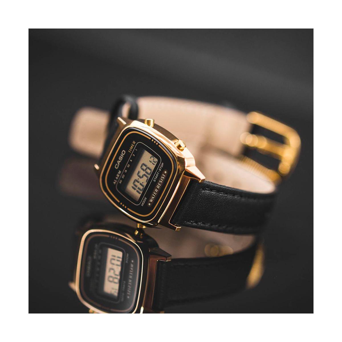 montre bracelet cuir casio