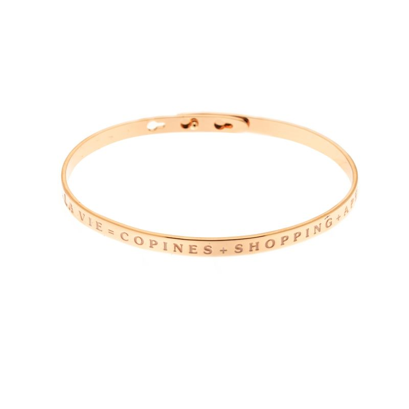 Bracelet Jonc A Message Laiton Rose La Vie Copines Shopping Apero