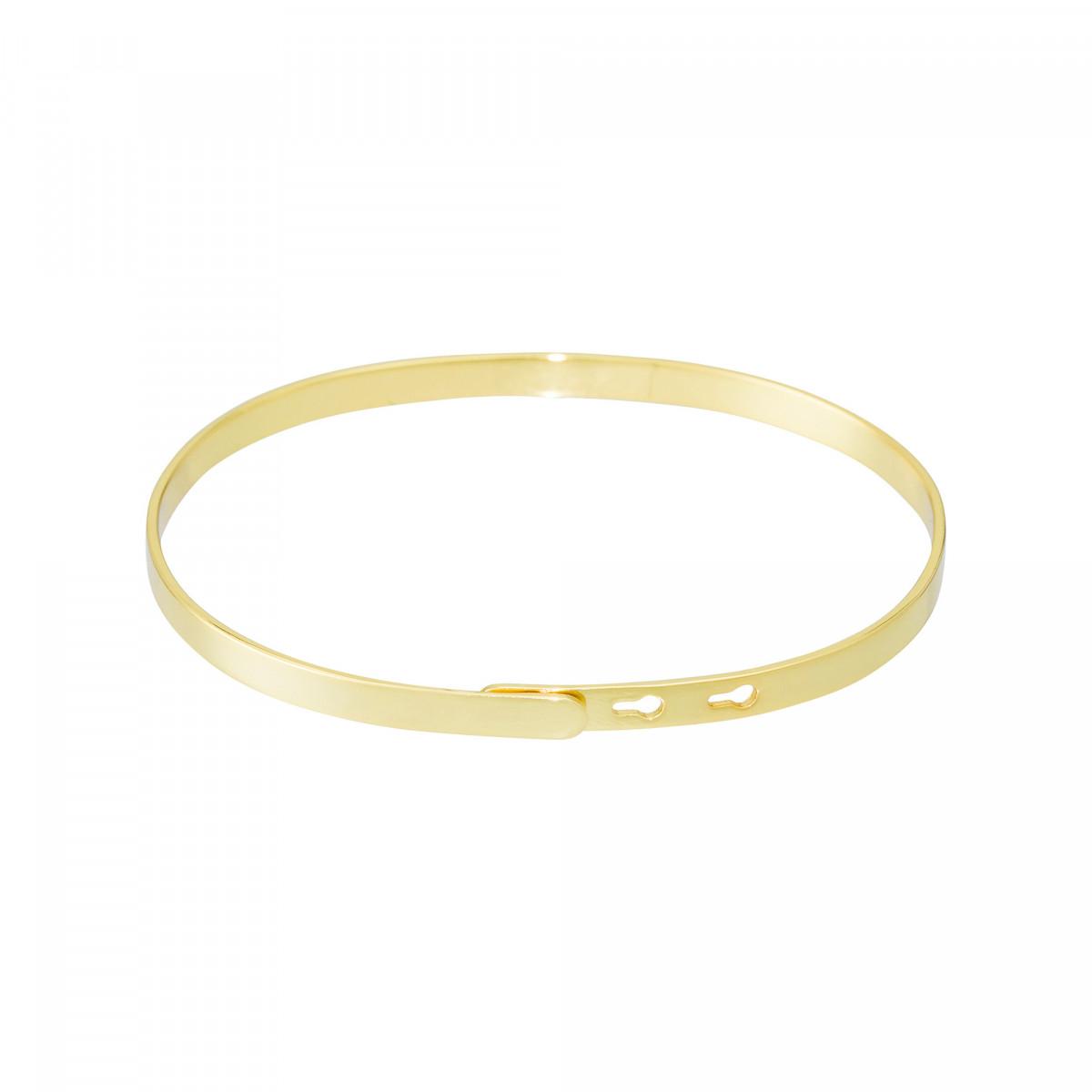 """""""UNE TATA FORMIDABLE"""" bracelet jonc doré à message"""