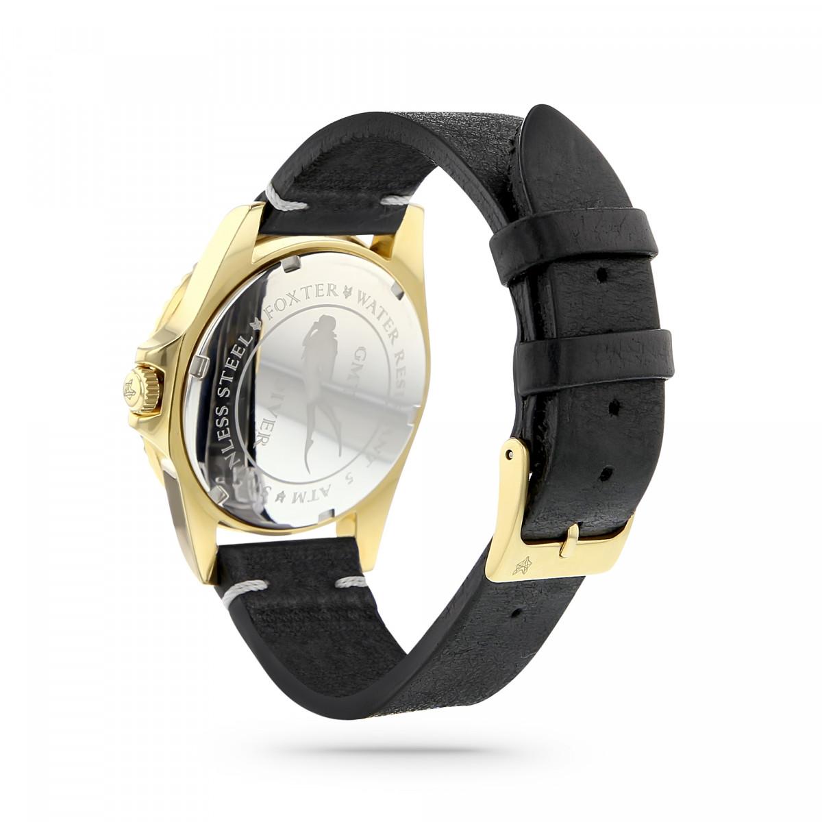 montre homme bracelet cuir or