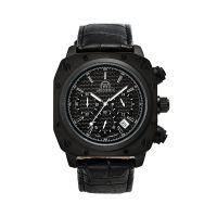 """Montre Chronowatch """"Airzone II"""" Quartz Noir Bracelet Cuir - HW5181C1BC1"""