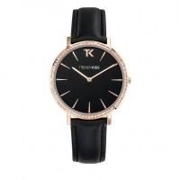 Montre Femme Trendy Kiss Lovisa cadran noir mat - TG10090-02B