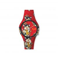 Montre Femme Doodle Graphics Mood cadran rouge - DO35008