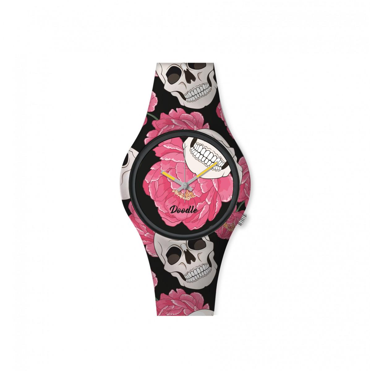 Montre Femme Doodle Santa Muerte Mood cadran noir - DO35013