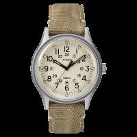 """Montre Homme Timex """"MK1 SST"""" Boîtier 40mm en Acier Cadran INDIGLO® Beige - TW2R68000"""