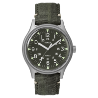 "Montre Homme Timex ""MK1 SST"" Boîtier 40mm en Acier Cadran INDIGLO® Vert - TW2R68100"