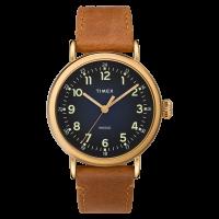"""Montre Homme Timex """"Standard"""" Boîtier 40mm Doré Cadran INDIGLO® Bleu - TW2T20000"""