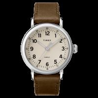 """Montre Homme Timex """"Standard"""" Boîtier 40mm Argenté Cadran INDIGLO® Gris - TW2T20100"""