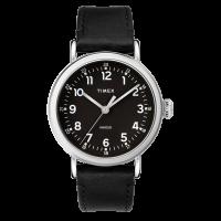 """Montre Homme Timex """"Standard"""" Boîtier 40mm Argenté Cadran INDIGLO® Noir - TW2T20200"""