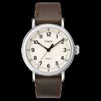 "Montre Homme Timex ""Standard"" Boîtier 40mm Argenté Cadran INDIGLO® Blanc - TW2T20700"