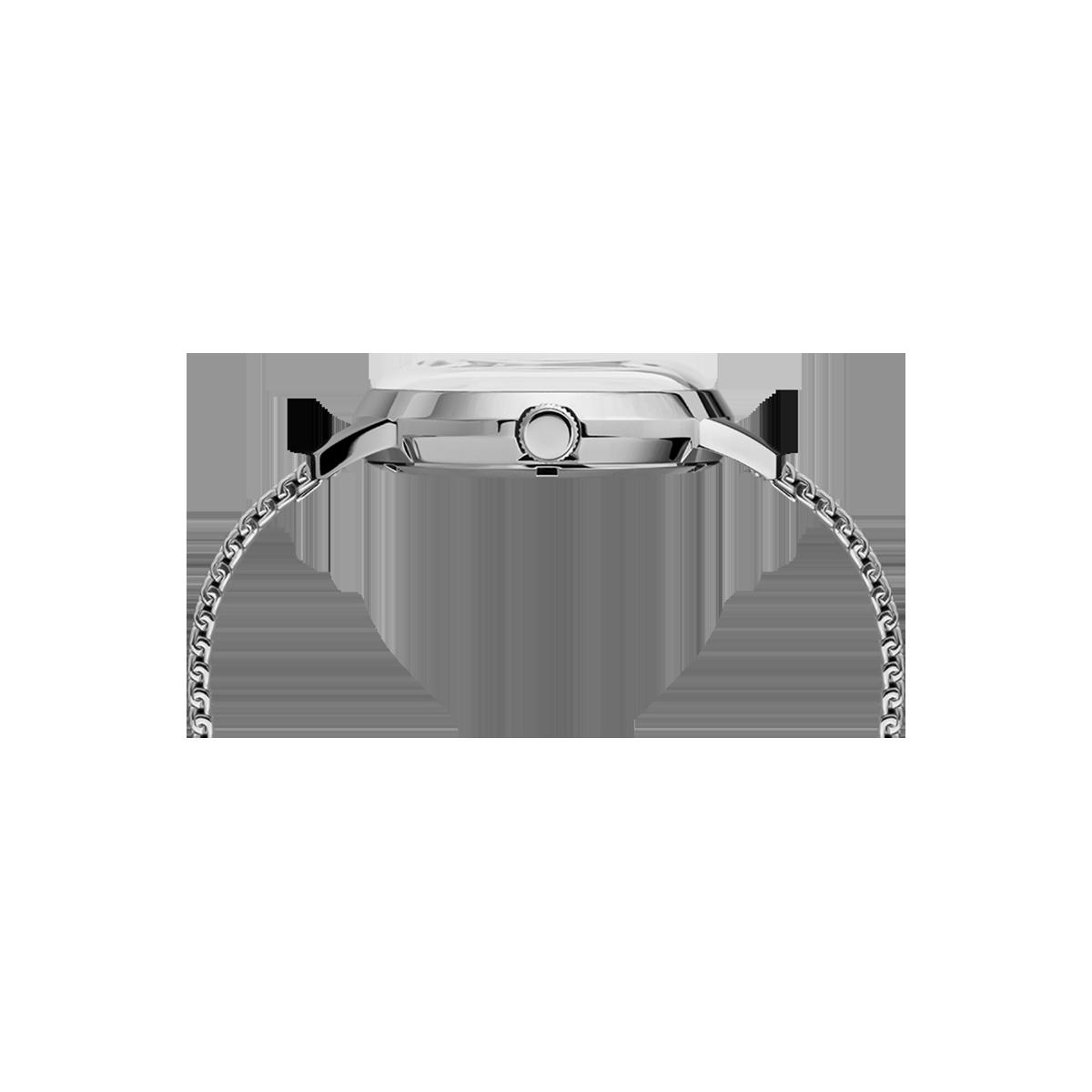 """Montre Homme Timex """"Marlin Automatique"""" Boîtier SST 40mm en Acier Cadran Noir - TW2T22900"""