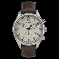 """Montre Homme Timex """"Waterbury Traditional Chrono"""" Boîtier SST 42mm en Acier Argenté - TW2R88200"""