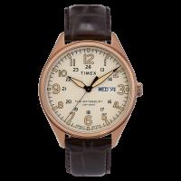 """Montre Homme Timex """"Waterbury Day Date"""" Boîtier 42mm Doré Cadran Beige - TW2R89200"""