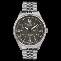 """Montre Homme Timex """"Waterbury Day Date"""" Boîtier SST 42mm Cadran noir  - TW2R89300"""