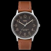 """Montre Homme Timex """"Waterbury Classic"""" Boîtier 40mm en Acier Cadran Noir - TW2P95800"""