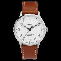 "Montre Homme Timex ""Waterbury Classic 3-hand"" Boîtier SST 40mm en Acier Cadran Blanc - TW2T27500"