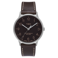 "Montre Homme Timex ""Waterbury Classic Men's"" Boîtier SST 40mm en Acier Cadran Noir - TW2T27700"