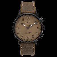 """Montre Homme Timex """"Waterbury Classic Men's"""" Boîtier SST 40mm en Acier Noir Cadran Taupe - TW2T27800"""