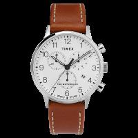 "Montre Homme Timex ""Waterbury Classic Chrono"" Boîter SST 40mm en Acier Cadran Blanc  - TW2T28000"