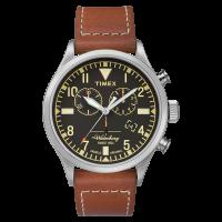 "Montre Homme Timex ""Waterbury Traditional Chrono"" Boîter SST 42mm en Acier Cadran Noir - TW2P84300"