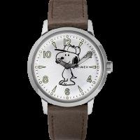 """Montre Homme Timex """"Welton Quartz"""" Boîtier SST 40mm Cadran Argent  - Snoopy Edition - TW2R94900"""