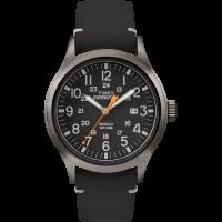 """Montre Homme Timex """"Expedition Metal Scout"""" Boîtier 40mm Gris Foncé Cadran INDIGLO® Noir  - TW4B01900"""